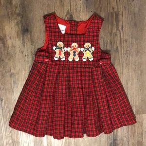 ⭐️Host Pick ⭐️ Vintage Gingerbread Plaid Dress 3T